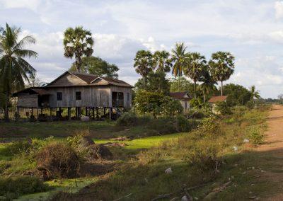 Cambodia-village-old stilt house