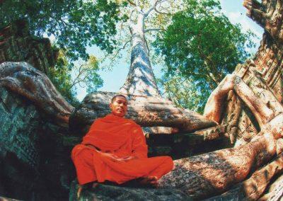Monk in Angkor Wat -Cambpodia